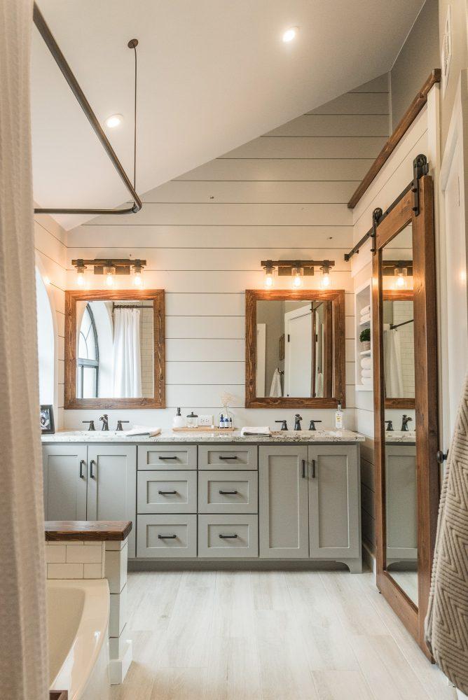 Modern Farmhouse Bathroom Inspiration Interior Designer Des Moines Jillian Lare