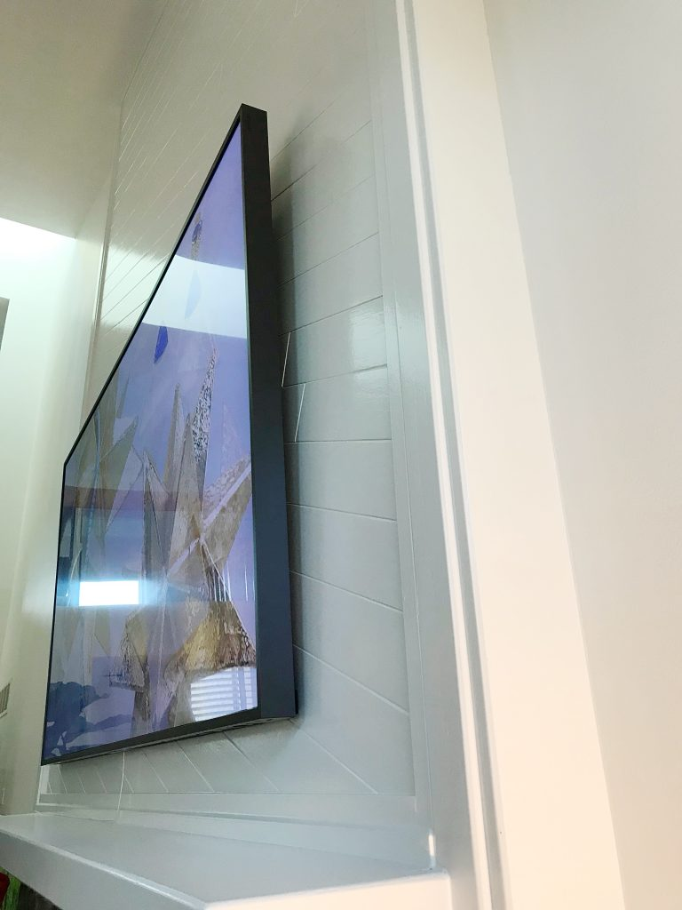 Samsung Frame TV Review - Wall Bracket Gap - Jillian Lare Interior Design