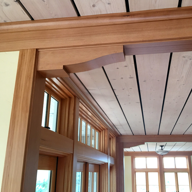 Trim Details in a Not So Big House by Architect Ross Chapin