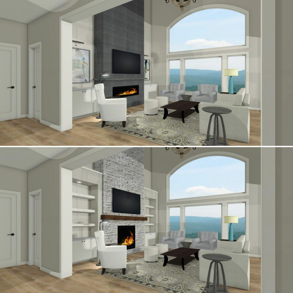 Stone Fireplace With Built In Cabinets: Design Dilemmas: How To Design A Great Room Fireplace Wall