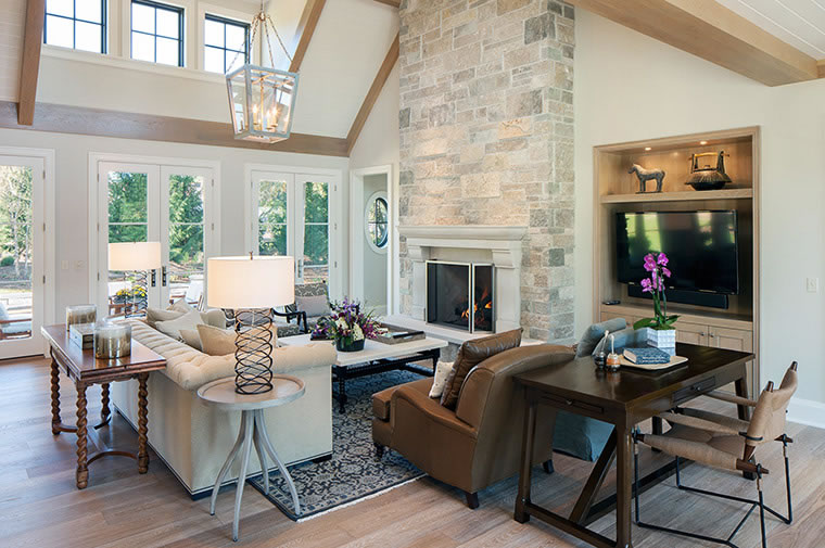 Design Dilemmas How To A Great Room Fireplace Wall