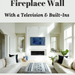 fireplace wall with tv and built-ins