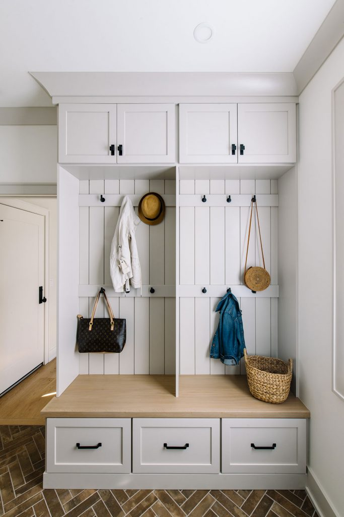 des moines iowa mudroom lockers interior designer Jillian Lare