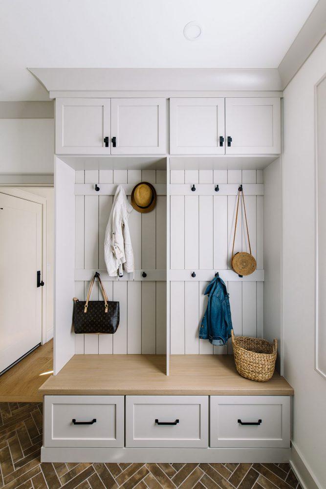 des moines iowa mudroom lockers interior designer Jillian Lare