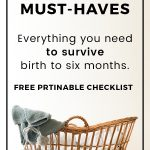 New Baby Must-Have List Printable Checklist
