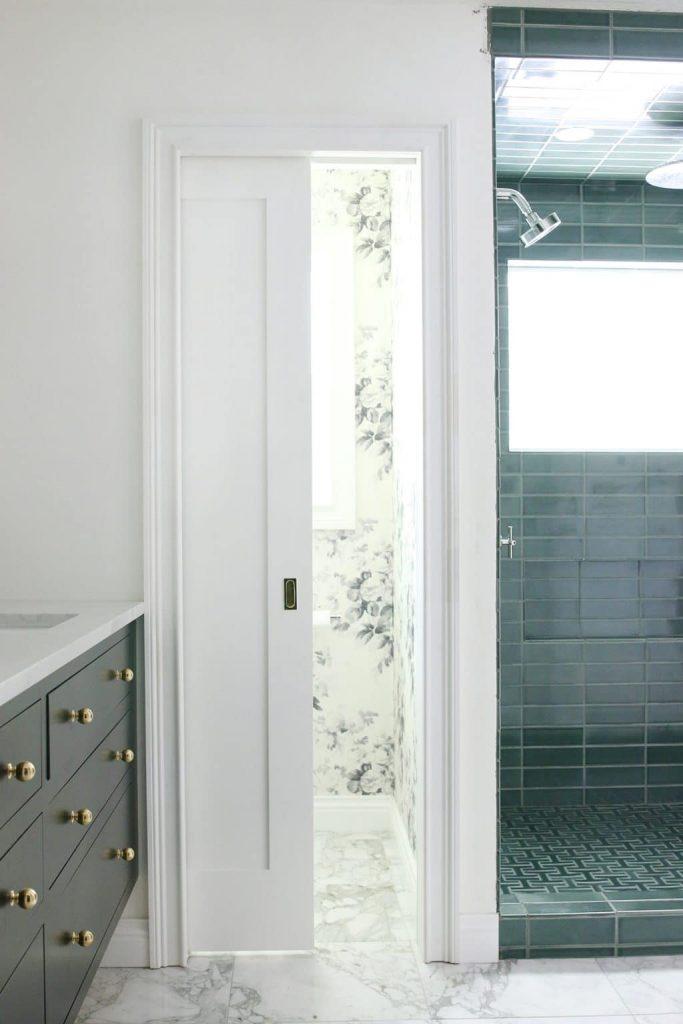 Chris Loves Julia Bathroom Pocket Door