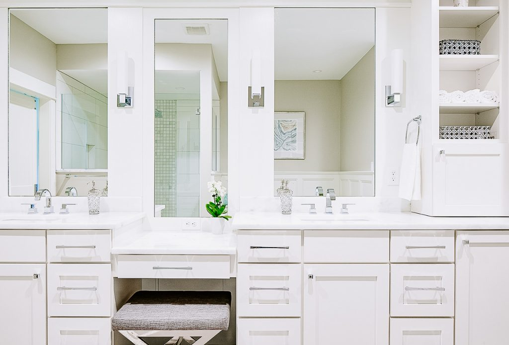 Des Moines Home Show Expo 2018 Best in Show Master Bathroom Vanity by Jillian Lare Interior Design