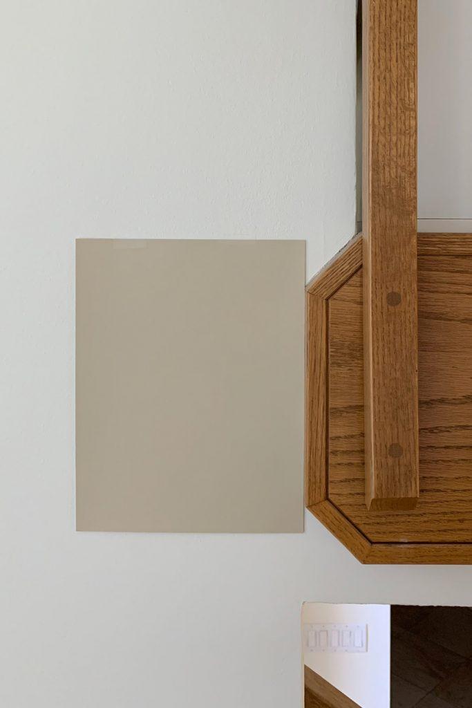 Sherwin-Williams Ramie SW 6156 Light Beige Paint Colors Honey Oak Trim