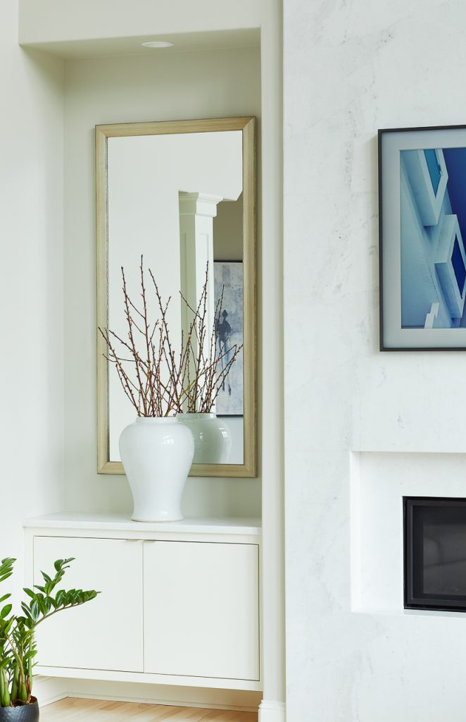 Modern Fireplace Built-In Niches