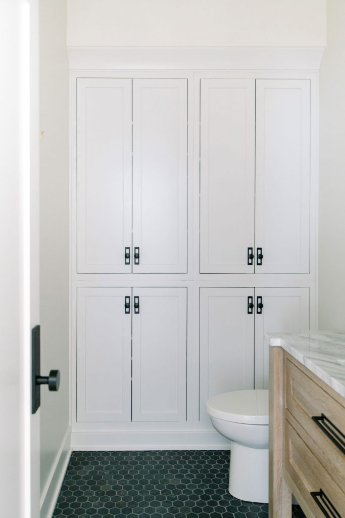 Powder Room Built-in Storage
