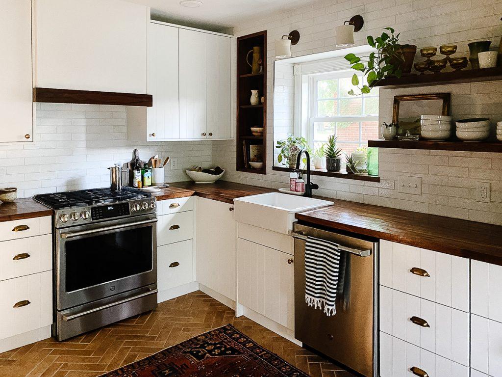 IKEA Kitchen Semihandmade Farmhouse Sink Butcher Block
