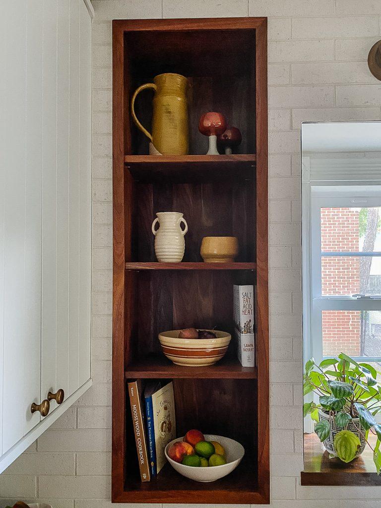 IKEA Kitchen Semihandmade Recessed Wall Niche Storage