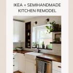 IKEA Kitchen Semihandmade Farmhouse Sink